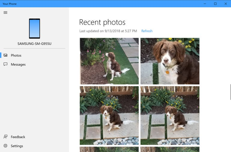 Get instant access to photos from your phone
