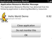 BlackBerry Application Resource Monitor: First Take