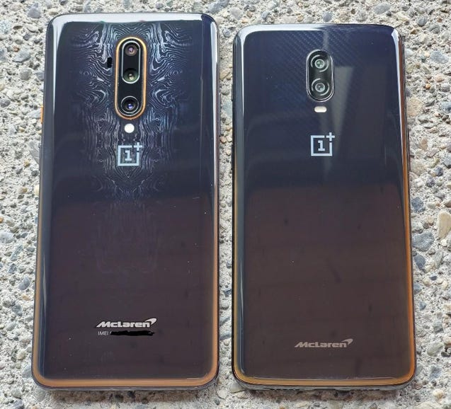 McLarens: OnePlus 7T Pro and OnePlus 6T