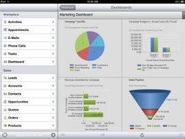 Figure 2: Figure 2: Mobile SFA Dashboard and Functions, Microsoft Dynamics CRM 2012