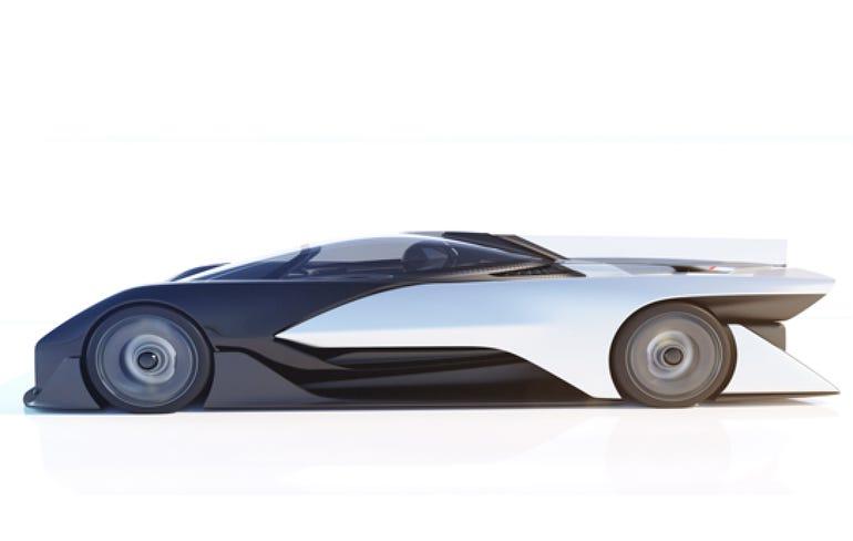Faraday Future's concept electric vehicle