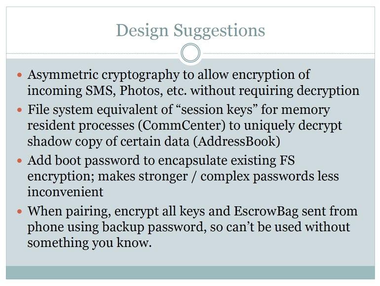 Jonathan Zdziarski's Design Suggestions to secure user privacy in iOS - Jason O'Grady