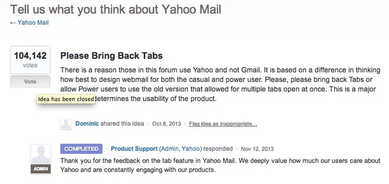yahoo mail completed
