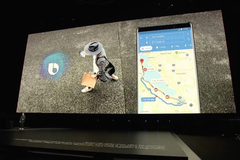 Bixby: Now works with Google Maps
