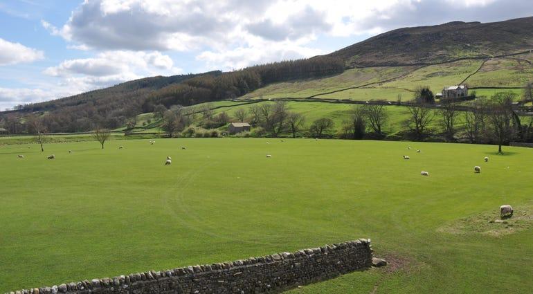 Landcape view of farmland in Yorkshire