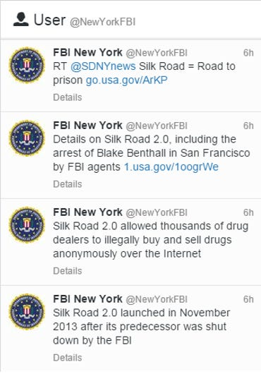 FBI New York Twitter feed