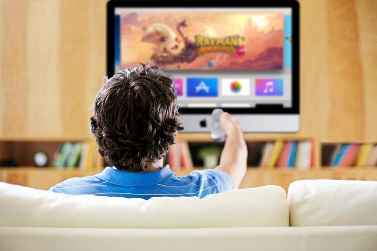 An actual Apple TV set