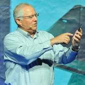 Yoav Hochberg shows off an Intel Inside smartphone