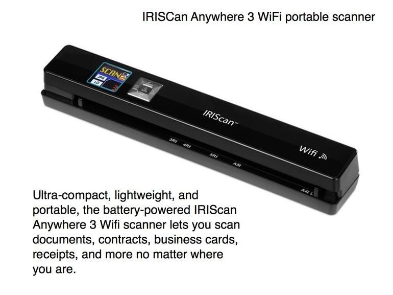 IRIScan Anywhere 3 WiFi portable scanner