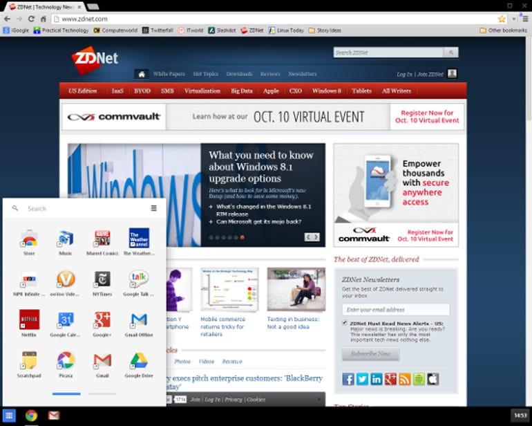 Chrome on Windows 8