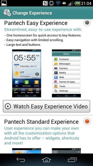 Pantech custom UI