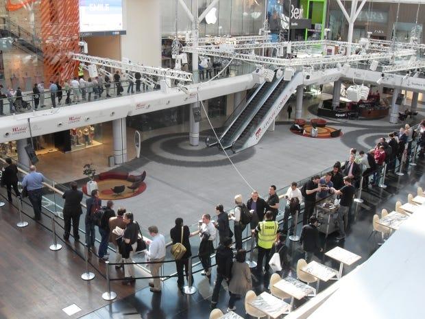 Westfield queue photo