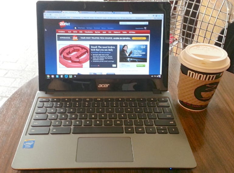 Acer C720 Chromebook Open
