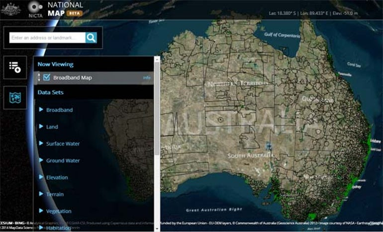 australian-government-pools-geospatial-data-on-national-map
