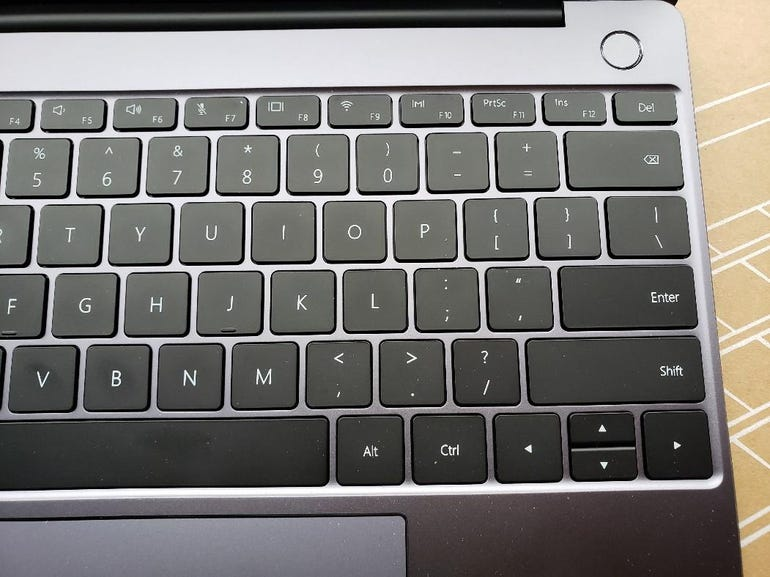 Right side of the keyboard