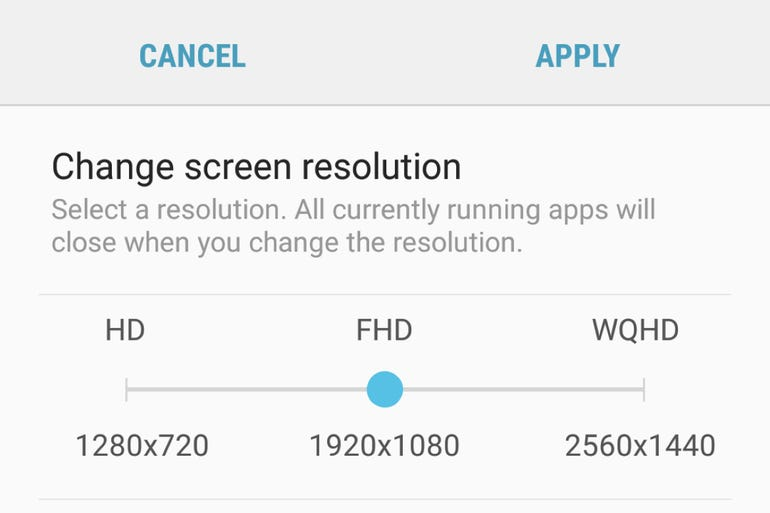 Change your screen resolution