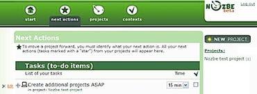 Nozbe GTD web application