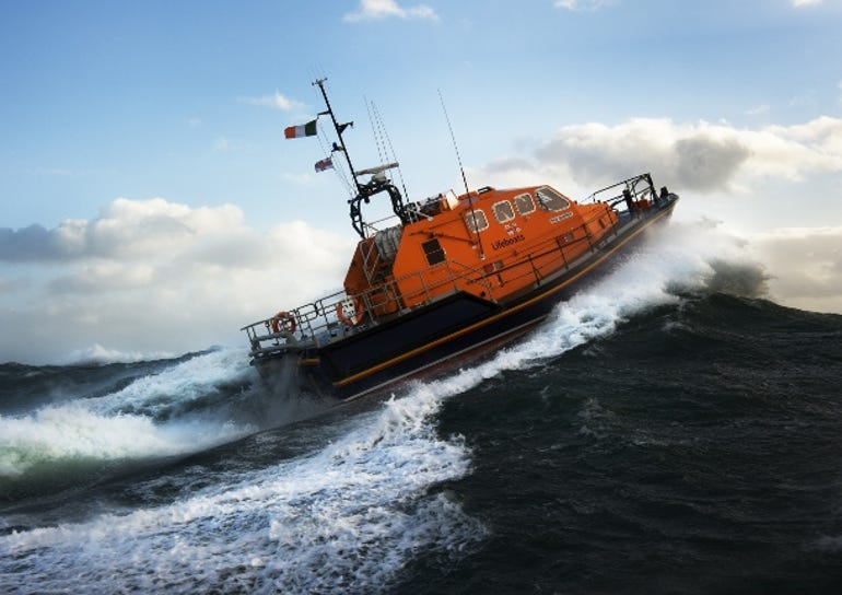 The RNLI's Tamar all-weather lifeboat