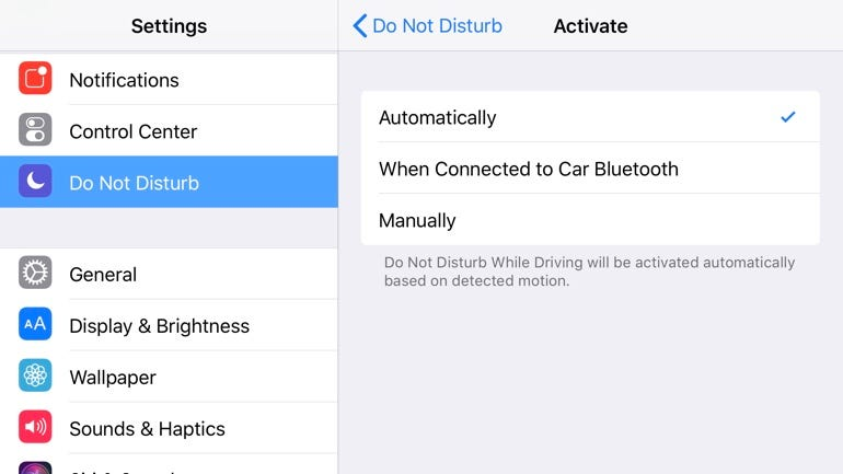 Turn on Do Not Disturb While Driving