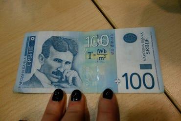 Nikola Tesla Serbian Dinar