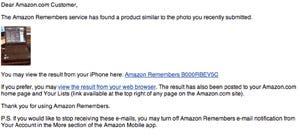 Amazon Remembers my stuff