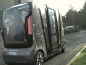 What happens when driverless car meets delivery robot at an intersection?