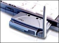 iBurst PC Card modem snug in a notebook