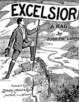 Excelsior Rag, sheet music by Joseph Lamb, 1920