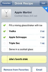 Drinks turns your iPhone into a pocket bartender