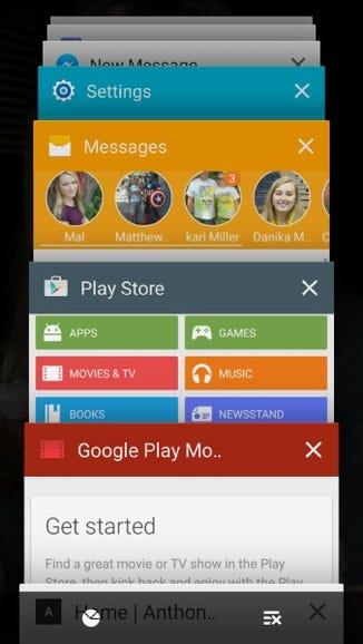 Recent apps update