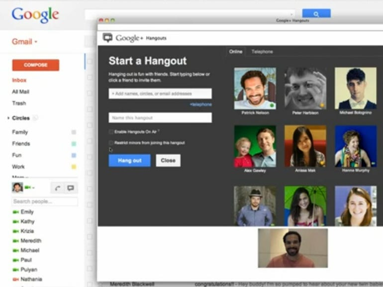 Gmail with Hangouts