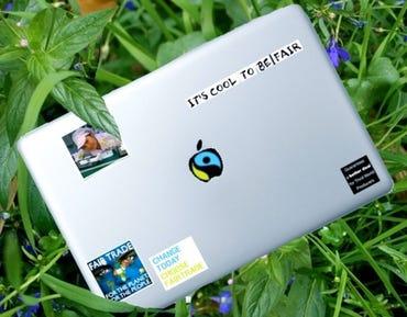 A Fair Trade notebook? - image by Damien Van Achter