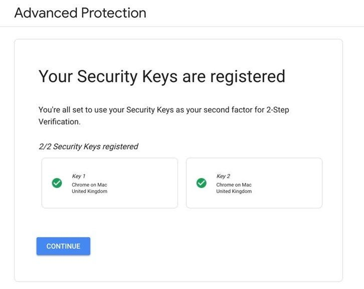 That's the security hardware registered