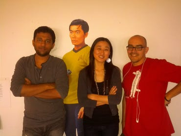 Annkur with Christine and Dave McClure of 500 Startups