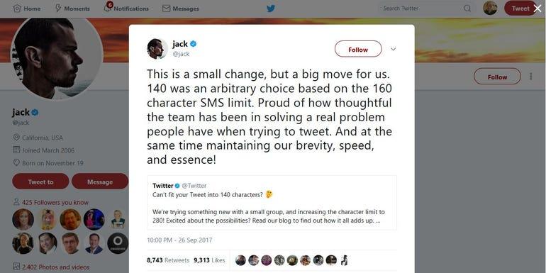 Jack Dorsey's long tweet