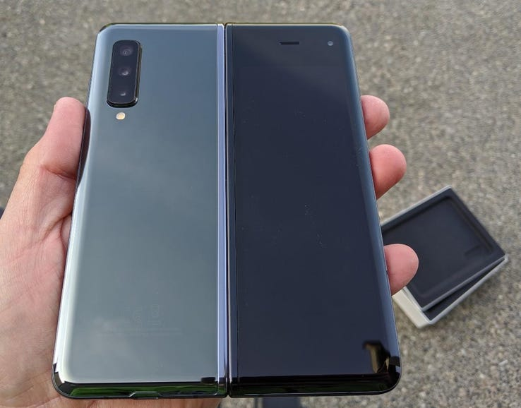 Back of the opened Galaxy Fold