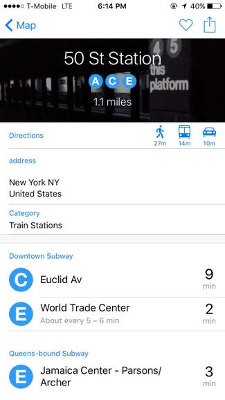Maps now come with public transit maps