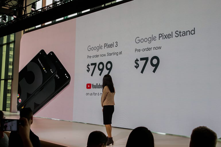 Pixel 3: Pricing and availability