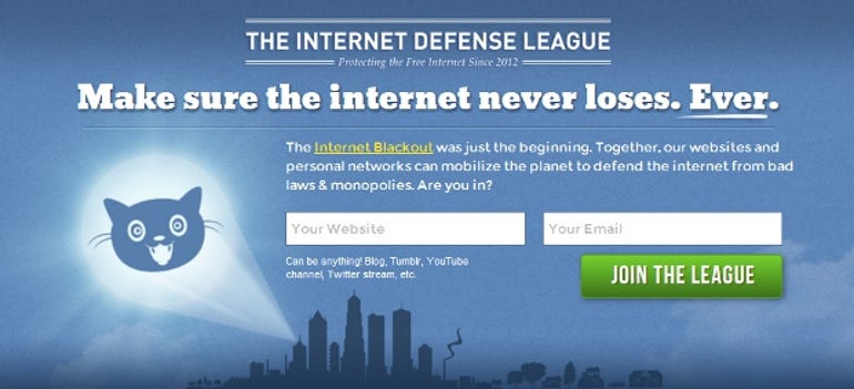 Internet Defense League homepage