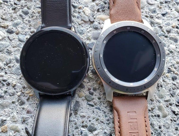 Watch Active 2 vs Galaxy Watch, back