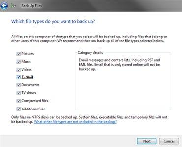 Windows Vista Backup