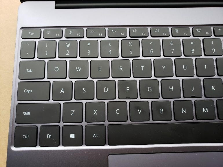 Left side of the keyboard