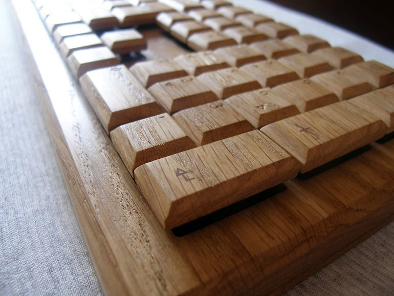 'Wooden Keyboard with Mechanical switches'