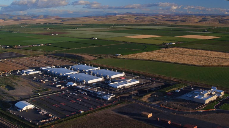 Microsoft's data centers dwarf the small Eastern Washington town of Quincy.