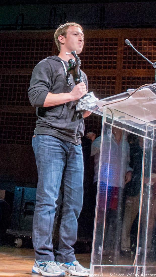 Mark Zuckerberg at Crunchies 2012 Awards