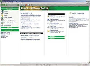CA's main interface