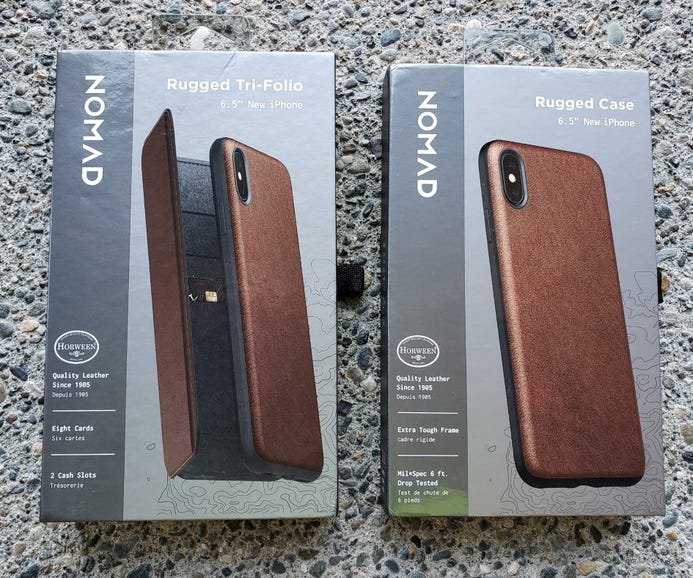 Nomad Rugged Tri-Folio and Rugged Case for the iPhone XS Max