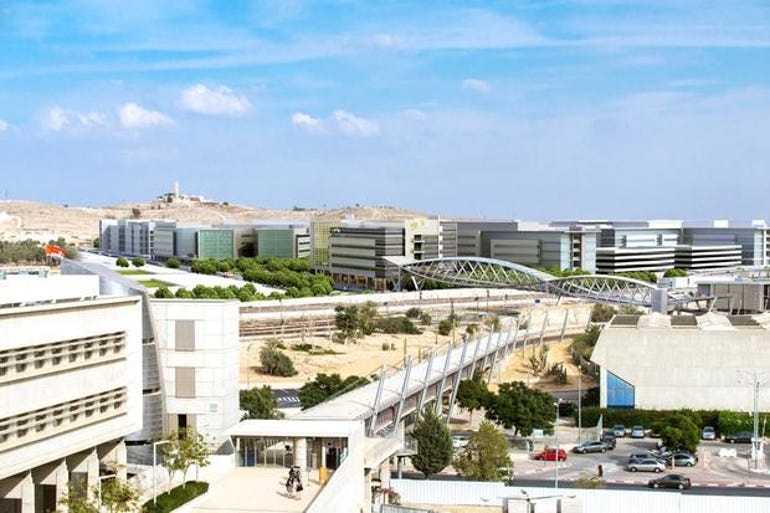 Future rendition of the Advanced Technologies Park in Beersheva