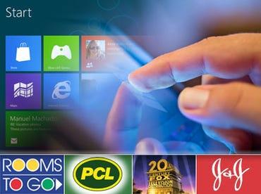 Windows 8 Start with company logos