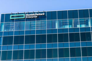 The new Hewlett Packard Enterprise (HPE) corporate headquarters, San Jose, Silicon Valley
